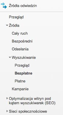 Jak znaleźć frazy z pozycjonowania w Google Analytics